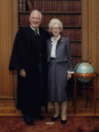 Warren E. Burger - Warren and Elvera Burger, 1981