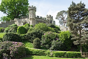Warwick Castle - The motte of the Norman motte-and-bailey castle is called Ethelfleda's Mound.