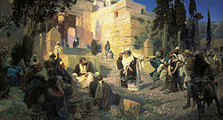 Vasily Polenov: Christ and the woman taken in adultery