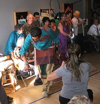 Institute of American Indian Arts - Image: Wayne gaussoin performance