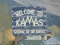 Welcome to Kamas sign on SR-248, Apr 16.jpg