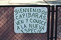 Welcoming sign to the Capybaras.jpg