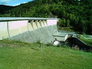 Wendefurth Dam - Image: Wendefurter Sperrmauer