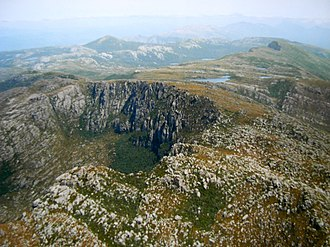 West Coast Range - Image: West Coast Range from above Tyndalls looking south