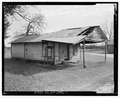 West front and north side - Filling Station, State Highway 3-U.S. Highway 19 at Croxton Cross Road, Sumter, Sumter County, GA HABS ga-2386-1.tif