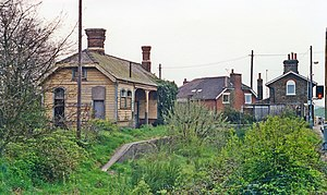 Westerfield railway station - Remains of the old terminus station in 1988