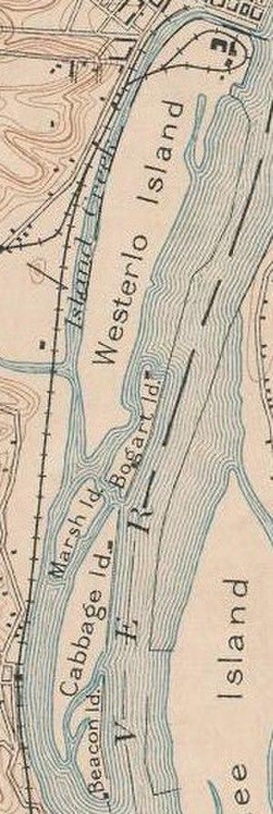 Castle Island (New York) - 1893 map of Westerlo Island