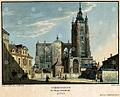 Western facade of St Vitus Cathedral by Vincent Morstadt, 1825,.jpg