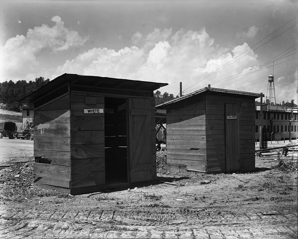 White and Colored privies X-10 plant