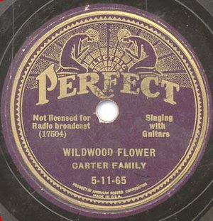 "Carter Family discography - A record of the Carter Family's biggest seller ""Wildwood Flower"""