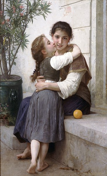 Fichier:William-Adolphe Bouguereau (1825-1905) - A Little Coaxing (1890).jpg