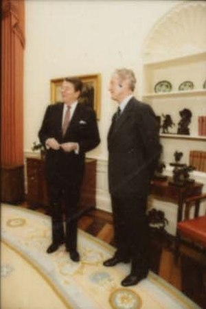 William A. Wilson (diplomat) - With the President in 1984
