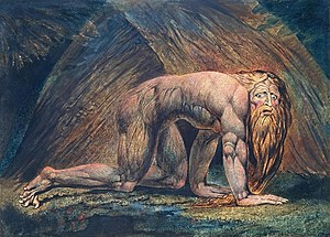 Book of Daniel - Nebuchadnezzar by William Blake (between c. 1795 and 1805)