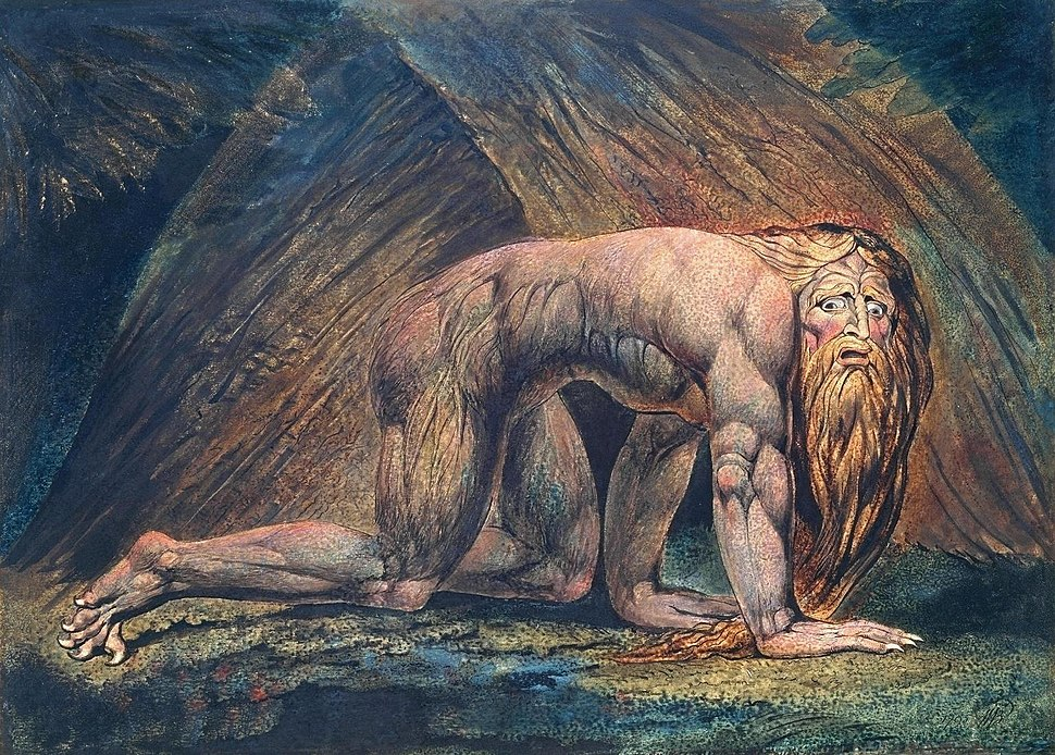 William Blake - Nebuchadnezzar (Tate Britain)
