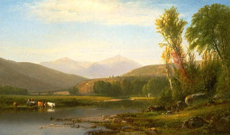 William Hart (painter) - Mount Madison from the Androscoggin River