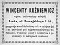 Wincenty Kuzniewicz. Advertisement.jpg