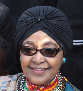 Winnie Madikizela-Mandela South African activist and politician