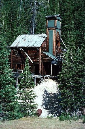 Shoshone National Forest - Wolf mine shaft at abandoned gold mine