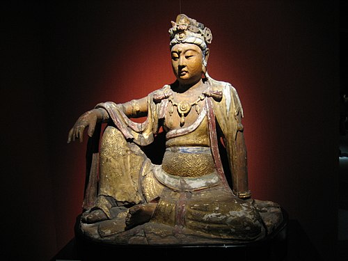 A wooden Bodhisattva from the Song dynasty (960-1279 AD) Wood Bodhisattva.jpg