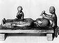 Wood carving, Dr. Simpson, Cameroon. Wellcome L0025761.jpg