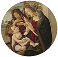 Workshop of Botticelli - MADONNA AND CHILD WITH THE INFANT SAINT JOHN THE BAPTIST, SEATED BY A WINDOW, AN EXTENSIVE LANDSCAPE BEYOND, lot.125.jpg