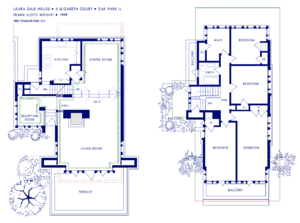 Laura Gale House - Floor plan.