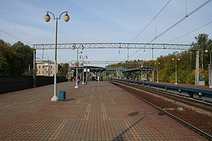 Yauza railway station - Image: Yauza railplatform