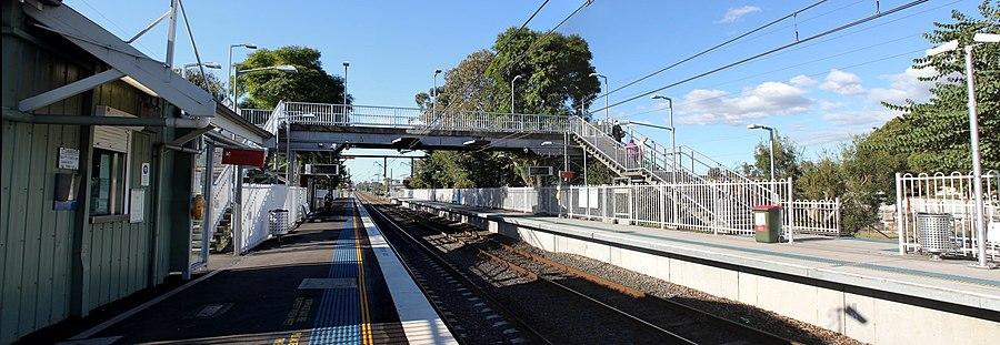 Yennora railway station