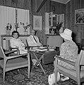 Yitzhak Ben Zvi, de tweede president van Israel van 1952 tot 1963, en zijn echtg, Bestanddeelnr 255-4239.jpg