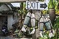 Yogyakarta Indonesia Exit-sign-in-Taman-Sari-01.jpg