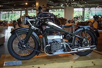 Honda Gold Wing - 1938 Zündapp K800 on display at the Barber Vintage Motorsport Museum