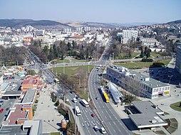 Pohled na východní část centra města