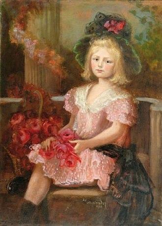 Zofia Atteslander - Image: Zofia Atteslander Dziewczynka w zielonym kapeluszu 1906