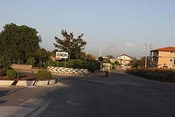 Zungri Entrada al pueblo.JPG