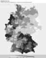 Zweitstimmenanteil der CDU,CSU bei der Bundestagswahl 2017 umgerechnet auf die Wahlkreiseinteilung 2021.png
