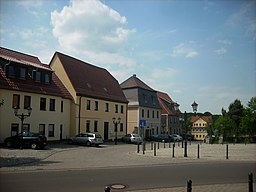 Market square in Zwenkau (Leipzig district, Saxony)