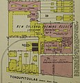 """New Orleans Brewing Association"" Brewery in 1896, Sanborn Fire Insurance Map from New Orleans, Orleans Parish, Louisiana. LOC sanborn03376 007-3 (cropped).jpg"