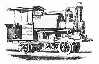 Forest railway - Perdido, a steam pole road locomotive