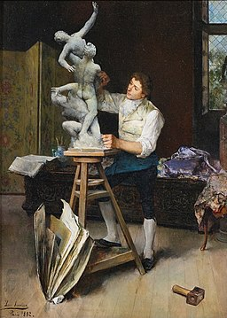'The Sculptor' by Luis Jiménez Y Aranda, 1882