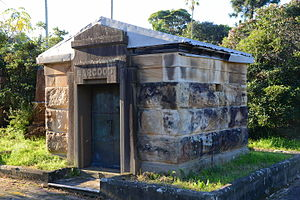 Frederick Thomas Sargood - Sargood family vault in Gore Hill cemetery, Sydney