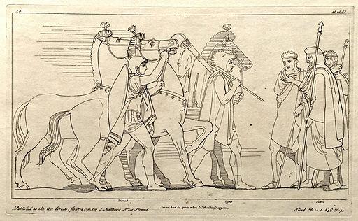 (15) Flaxman Ilias 1795, Zeichnung 1793, 187 x 308 mm