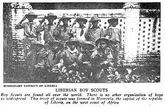 Boy Scouts of Liberia - Image: (1919) Liberian Boyscouts