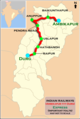 (Durg - Ambikapur) Express Route map.png