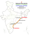 (Howrah - Chennai) Coromandel Express Route map.png