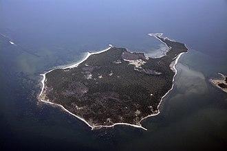 Aegna - Aerial view of Aegna.