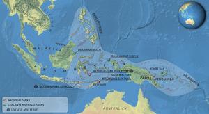 Deutsch: Lagekarte des Korallendreiecks