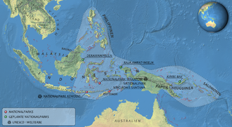 Coral Triangle - National parks in the Coral Triangle