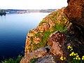 Днипрогес. Вид с цветущего острова Хортица.jpg