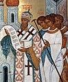 Патриарх Алексий II с сонмом духовенства на освящении храма Христа Спасителя, 2000 г.jpg
