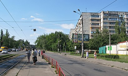 How to get to вулиця Петра Запорожця 4 with public transit - About the place